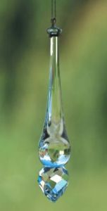 Crystal~Wand 75Clear Round Tip Swarovski Hanging Rainbow Crystal-Stunning array of dancing light